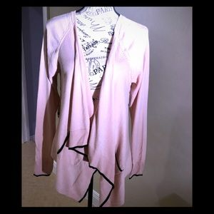 Elle large pink and black cardigan with cascade